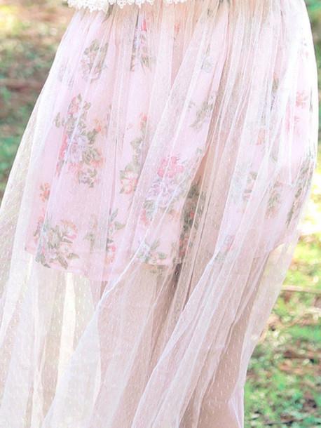 skirt cute sweet pink flowers