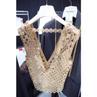 gold jacket vest glitter strass paillettes l light
