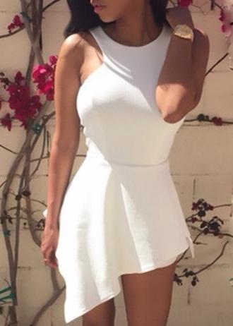 romper white dress style scrapbook style cute white dress girly stylish sleeveless elegant beautiful
