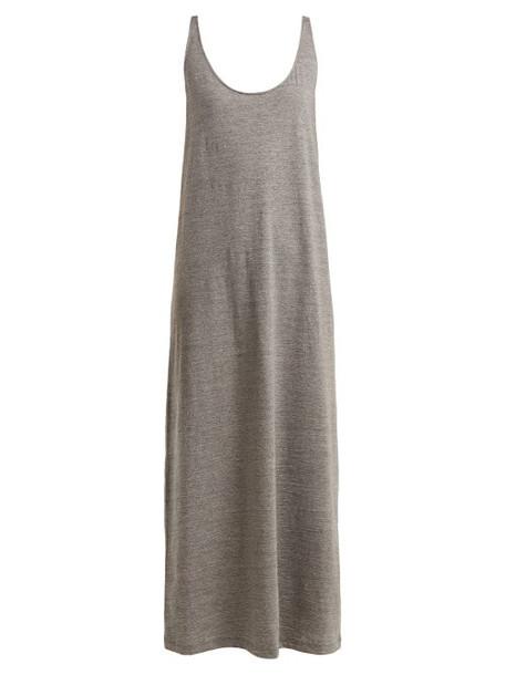 Raey - Skinny Strap Cotton Jersey Dress - Womens - Grey