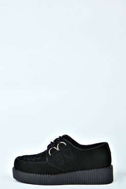 Poppy Suedette Creeper Flat