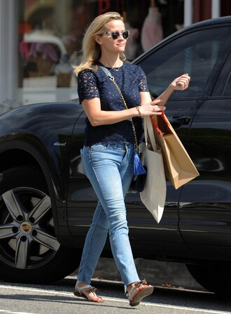 shoes sandals reese witherspoon sunglasses denim