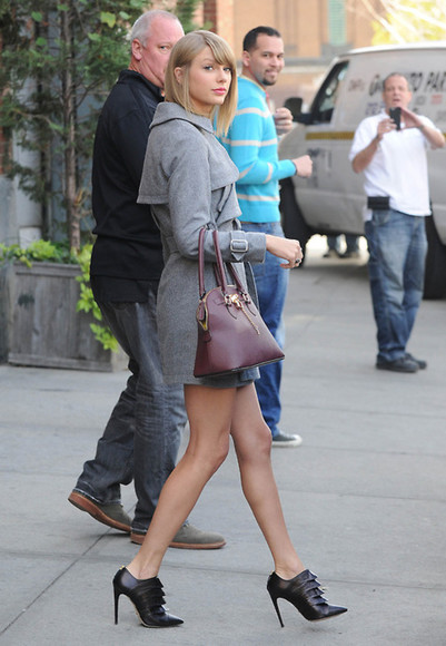 coat fall outfits shoes bag taylor swift