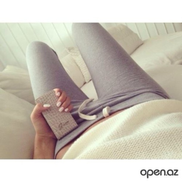 t-shirt white grey sweatpants pants jewels