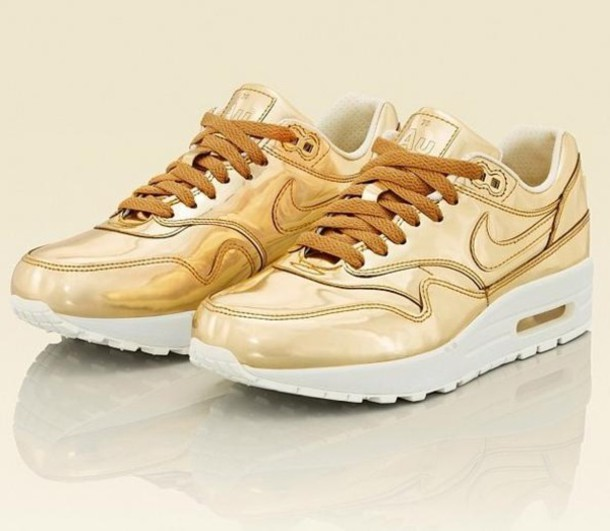 shoes air max liquid gold metallic au dope swag nigga