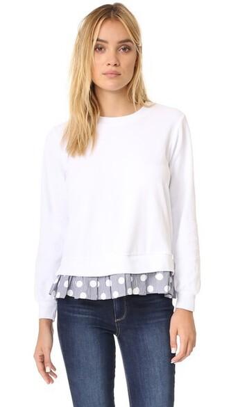 sweatshirt white sweater