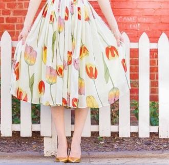 skirt midi tulip skirt
