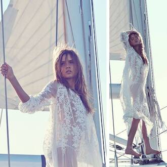 dress love lace dress lace model cover up beach wedding see through dress see through white dress