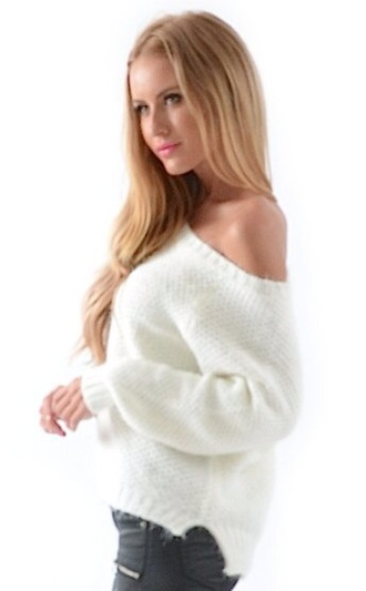 white top sweater off the shoulder sweater off the shoulder knit off the shoulder top crop tops off the shoulder