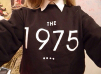 sweater sweayer sweatshort collared shirts button up black the 1975