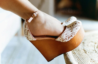 shoes nastygal nastygal.com shopnastygal.com jeffrey campbell wood wedges wooden wedges wooden platforms crochet and wood crochet platforms white crochet white crochet platforms summer platforms cute platforms bag wedges white brown high heels