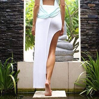 skirt divergence clothing maxi skirt boho slit skirt boho chic
