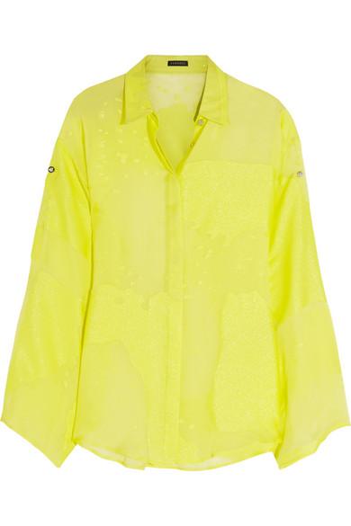 Versace | Devoré silk-blend shirt | NET-A-PORTER.COM