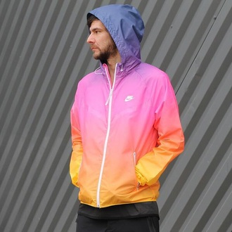 jacket nike air nike sweater nike jacket windbreaker rainbow menswear mens jacket nike gradient nylon wndbreaker r