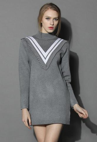 dress chicwish knit dress vintage inspired