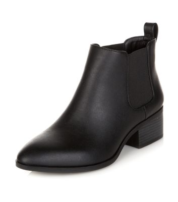 Bottines Chelsea noires pointues