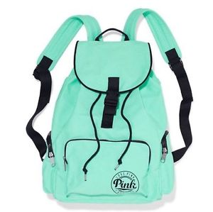 fbbcce7230 nwt victoria s secret pink backpack school gym travel bag tote mint ...