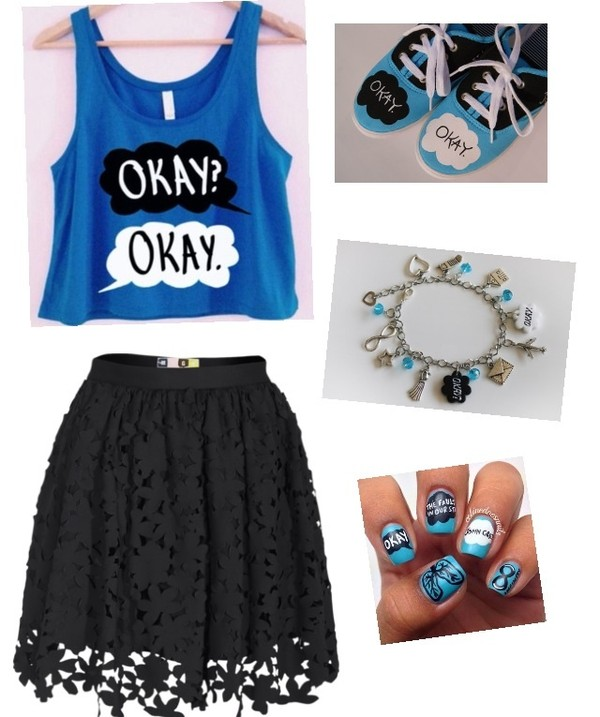 nail polish salon perfect jewels skirt blouse shoes shirt blue