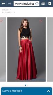 dress,red dress,red prom dress,satin dress,prom dress,black dress,two piece dress set
