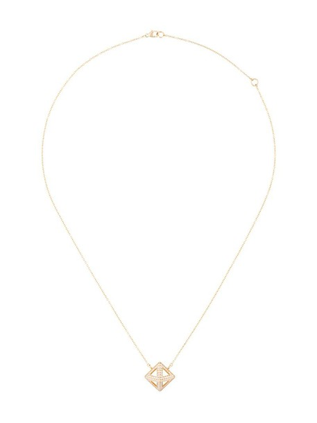 SARAH NOOR women necklace diamond necklace gold yellow grey metallic jewels