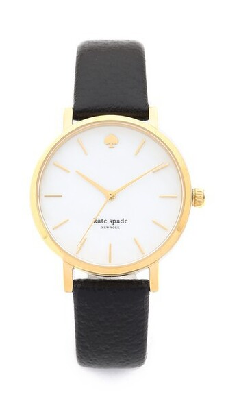 classic watch gold black jewels