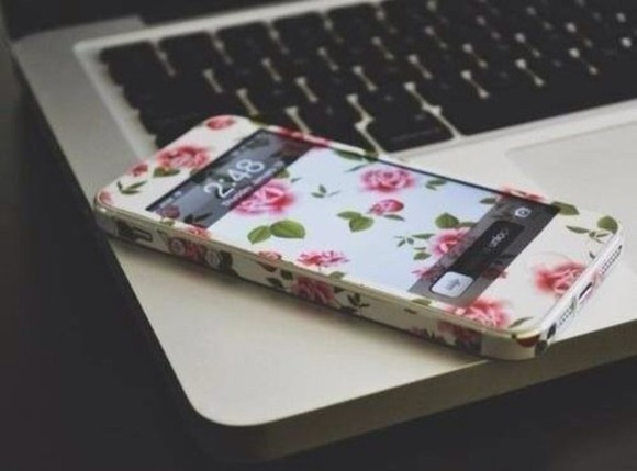 jewels iphone iphone cover flowers print