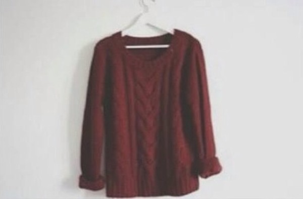 sweater red burgundy oversized vintage grunge hipster