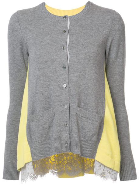 00a9069f181a8 cardigan cardigan women lace cotton wool grey sweater