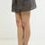 Stripes All Around Pleated Mini Skirt - Black/Taupe