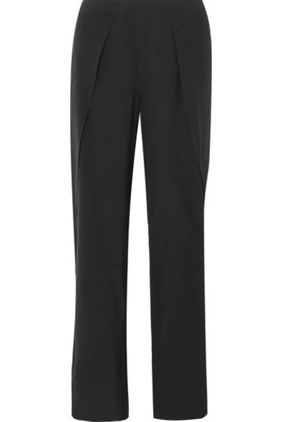 Totême pants wide-leg pants draped black silk