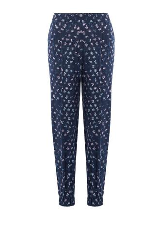pants silk blue