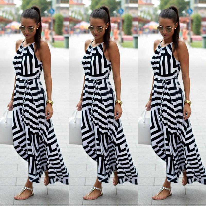 9941a60327880 UK Womens Celeb Sexy Boho Long Maxi Dress Ladies Summer ...