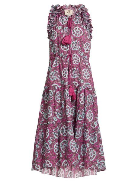 Gabriella ruffle-trimmed sleeveless cotton dress