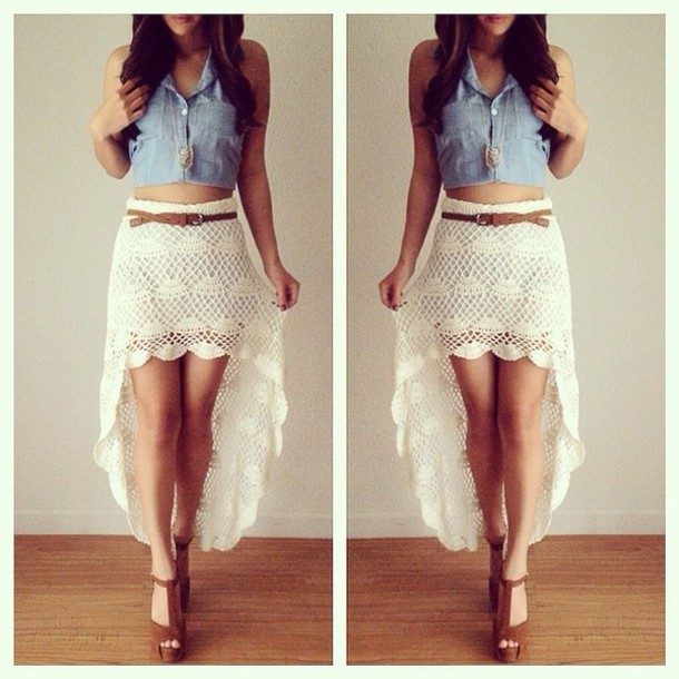Short Lace Skirts