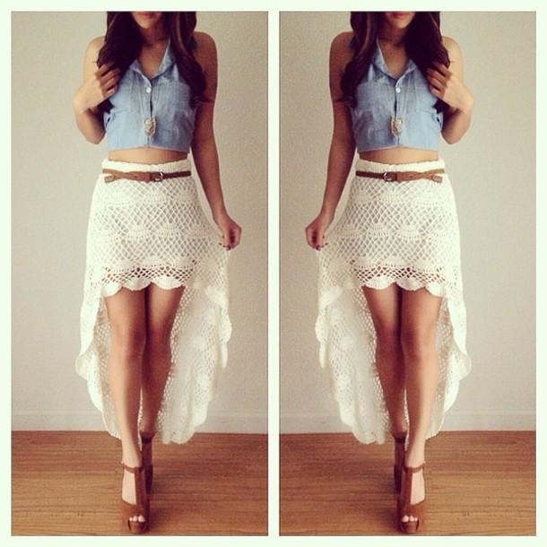 Short skirt long back dress