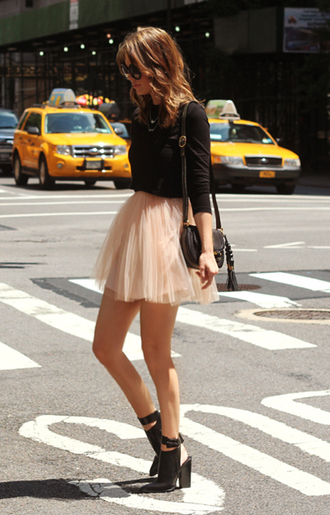 skirt tulle skirt tutu pink black high heels shoes mini skirt and ankle boots cute pretty lovely fashion pale nude dust pink mini skirt girly
