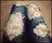 jeans,pants,IFOUNDIT4U!!,floral,lace,ripped,ripped jeans,skinny jeans,fashion,clothes,blue jeans,blue,white,tights,tumblr,ripped skinny jeans,lace back,lace jeans,denim,lace denim jeans,black,grey,hipster,lace jeans ripped,dentelle,ripped denim pants,distressed denim,leggings,rose wholesale,distressed denim shorts,trendy,style,boots