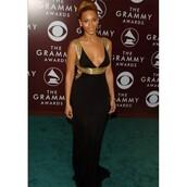prom dress,beyonce,grammys 2016,black dress,gold dress
