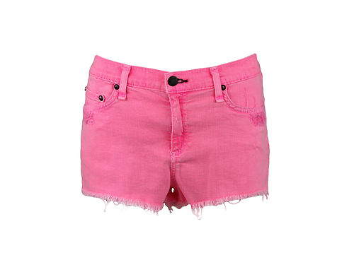 Bone Jean Womens Neon Pink Frayed Destroyed Denim Shorts 31 $154 ...