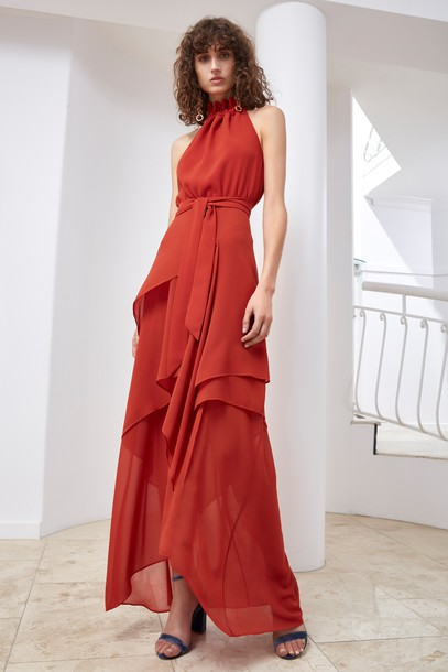 C/MEO COLLECTIVE dress maxi dress maxi red