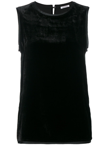 P.A.R.O.S.H. vest women black silk velvet jacket