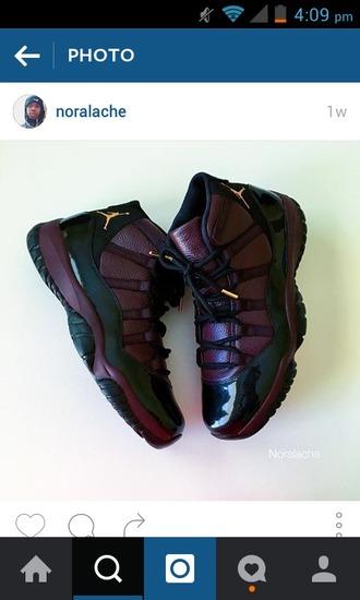 shoes jordans high top sneakers purple burgundy sneakers burgundy