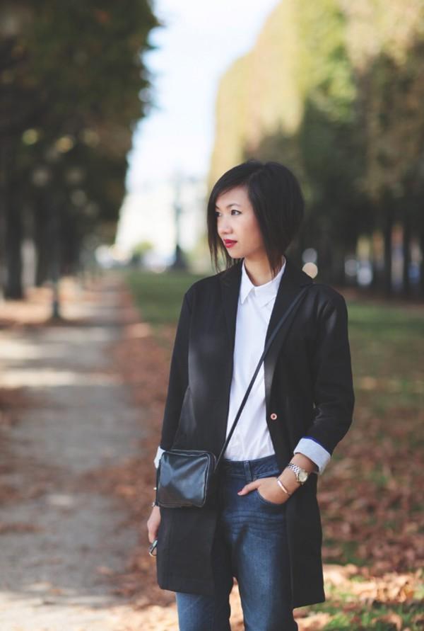 le monde de tokyobanhbao blogger jacket bag jeans sunglasses