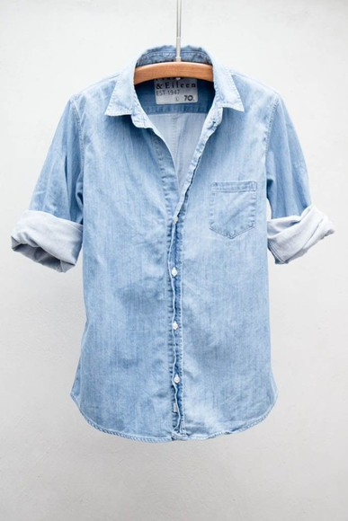 button up denim top button up denim blue