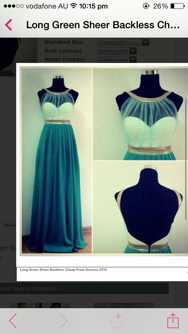 dress blue prom dress