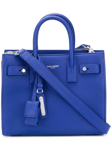 Saint Laurent - Sac De Jour mini tote - women - Leather - One Size, Blue, Leather