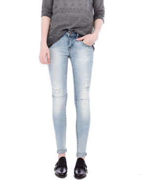 RIPPED SKINNY FIT JEANS - JEANS - WOMAN -  PULL&BEAR United Kingdom
