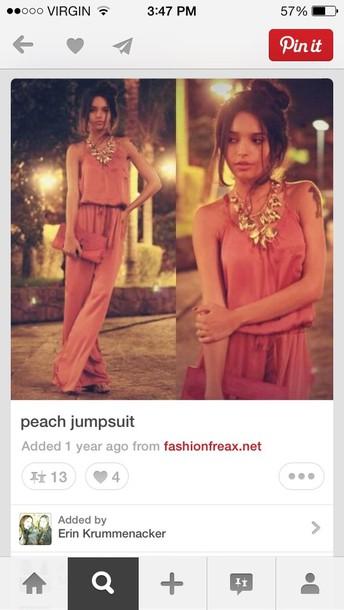 dress coral jumpsuit