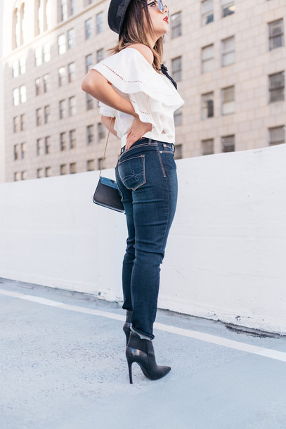 aab2aa788f3e jeans tumblr blue jeans denim skinny jeans boots black boots shoes ankle boots  high heels boots
