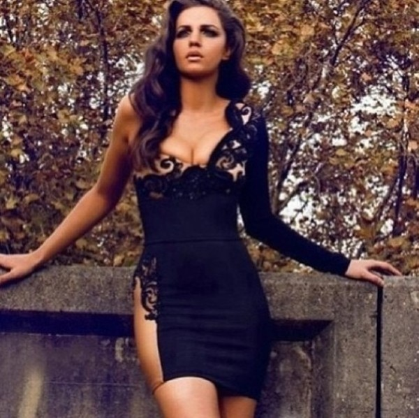 dress brands bodycon bandage lace black and gold wow beautiful black and nude one shoulder dress